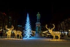 Christmas decorations in Helsinki Stock Photo