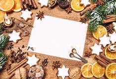 Christmas decorations and holidays sweet food ingredients Royalty Free Stock Image