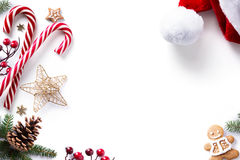 Christmas decorations and holidays sweet on white background. Art Christmas decorations and holidays sweet on white background