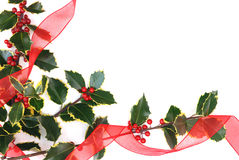 Christmas decorations with holly berries Stock Photography