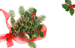 Christmas decorations with holly berries Royalty Free Stock Image