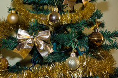 Christmas decorations. Decorations hung  on a Christmas tree Stock Photos