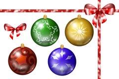 Christmas decorations illustrated set royalty free illustration