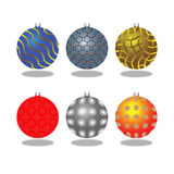 Christmas decorations. Illustration in Stock Photography