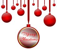 isolated Christmas decorations in red royalty free stock photography
