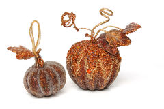 Christmas Decorations isolated. Christmas tree Decorations pumpkins, isolated royalty free stock photos