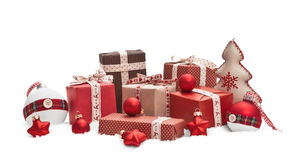Christmas decorations isolated stock image