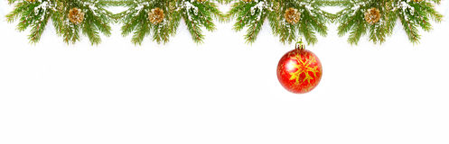 Christmas Decorations isolated on white background. Royalty Free Stock Images