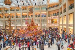 Christmas decorations at the Landmark. HONG KONG - DECEMBER 25, 2015: Christmas decorations at the Landmark shopping mall in Hong Kong Stock Photography