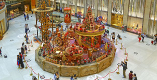 Christmas decorations at landmark shopping mall, hong kong Stock Photos