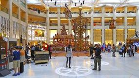 Christmas decorations at landmark shopping mall, hong kong Stock Photography