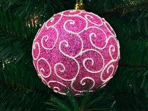 Christmas decorations large pink shiny balloon Stock Photography