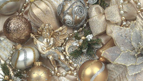 Christmas light gold. Christmas Decorations in light gold Royalty Free Stock Image