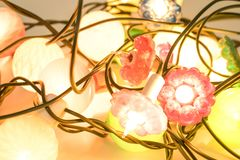 Christmas decorations, christmas lights full of colors isolated stock images