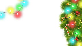 Christmas Decorations And Lights On Transparent Background