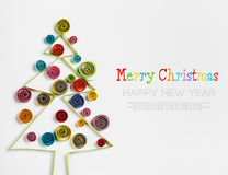 Christmas decorations made ​​of paper quilling Royalty Free Stock Images