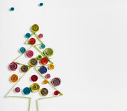 Christmas decorations made of paper quilling Royalty Free Stock Images