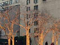 Christmas decorations in Manhattan, NY Stock Photo
