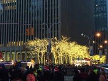 Christmas decorations in Manhattan, NY Royalty Free Stock Photos