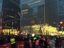 Christmas decorations in Manhattan, NY stock photos