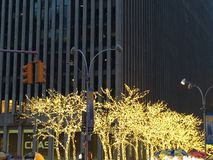 Christmas decorations in Manhattan, NY Royalty Free Stock Image