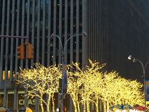 Christmas decorations in Manhattan, NY royalty free stock images