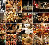Christmas decorations on the market in Vienna Stock Image