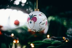 Christmas decorations. Merry christmas and happy new year royalty free stock image