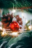 Christmas decorations. Merry christmas and happy new year royalty free stock photo