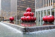 Christmas decorations in Midtown Manhattan near Rockefeller Center Stock Images
