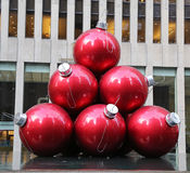 Christmas decorations in Midtown Manhattan near Rockefeller Center Royalty Free Stock Images