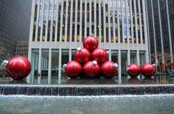 Christmas decorations in Midtown Manhattan near Rockefeller Center Royalty Free Stock Image