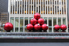 Christmas decorations in Midtown Manhattan near Rockefeller Center Royalty Free Stock Photo