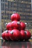 Christmas decorations in Midtown Manhattan near Rockefeller Center Stock Image