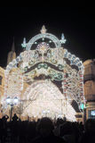 Christmas decorations in Moscow city on Nikolskaya street. Royalty Free Stock Photography