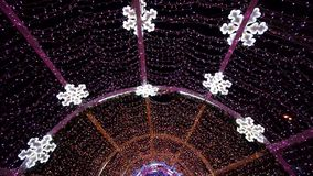 Christmas decorations in Moscow stock video