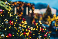Christmas decorations in Moscow Stock Images