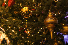 Christmas decorations. Moscow street.  Christmas decorations Royalty Free Stock Images