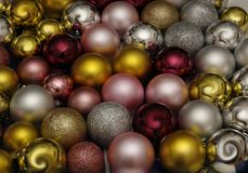 Christmas decorations multicolored balls. Christmas decorations with colorful balls for the holiday of Christmas and New Year Stock Photography