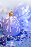 Christmas decorations in neon light Stock Images