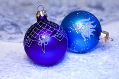 Christmas decorations in neon light Stock Image