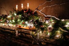 Christmas decorations. New Year decoration stock images