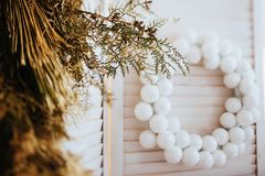 Christmas decorations. New Year decoration royalty free stock image