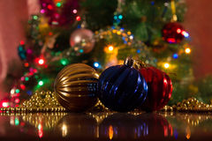 Christmas decorations for the new year Stock Photos