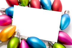 Christmas Decorations Notecard royalty free stock photo