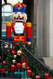 Christmas decorations and Nutcracker Royalty Free Stock Images