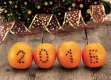 Christmas decorations with oranges Stock Photography