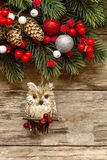 Christmas decorations with ornaments Royalty Free Stock Image