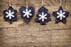 Christmas decorations with ornaments Royalty Free Stock Photography