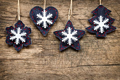 Christmas decorations with ornaments Royalty Free Stock Images